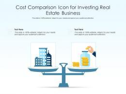 Cost Comparison Icon For Investing Real Estate Business