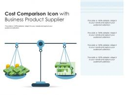 Cost Comparison Icon With Business Product Supplier