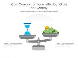 Cost Comparison Icon With Hour Glass And Money