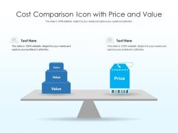 Cost Comparison Icon With Price And Value