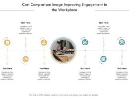 Cost Comparison Image Improving Engagement In The Workplace Infographic Template