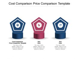 Cost Comparison Price Comparison Template Ppt Powerpoint Presentation Summary Smartart Cpb