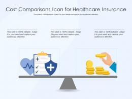 Cost Comparisons Icon For Healthcare Insurance