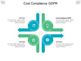 Cost Compliance GDPR Ppt Powerpoint Presentation Portfolio Deck Cpb