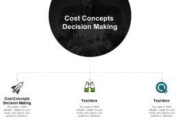 Cost Concepts Decision Making Ppt Powerpoint Presentation Icon Example File Cpb