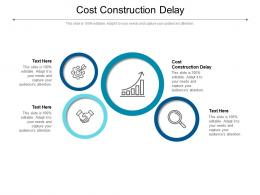 Cost Construction Delay Ppt Powerpoint Presentation Infographic Template Skills Cpb