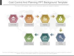Cost Control And Planning Ppt Background Template