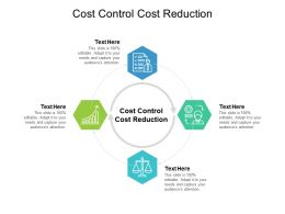 Cost Control Cost Reduction Ppt Powerpoint Presentation File Clipart Cpb