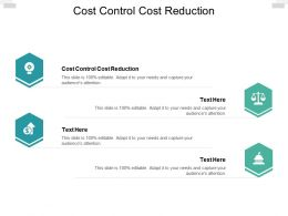 Cost Control Cost Reduction Ppt Powerpoint Presentation Infographic Cpb