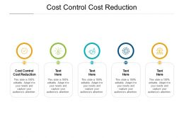 Cost Control Cost Reduction Ppt Powerpoint Presentation Templates Cpb