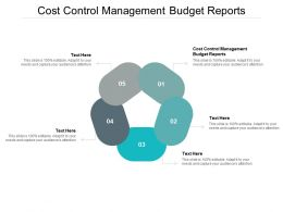 Cost Control Management Budget Reports Ppt Powerpoint Presentation Portfolio Template Cpb