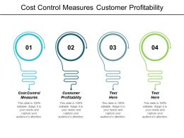Cost Control Measures Customer Profitability Customer Databases Market Research Cpb