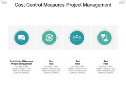 Cost Control Measures Project Management Ppt Powerpoint Outline Smartart Cpb