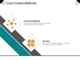 Cost Control Methods Ppt Powerpoint Presentation Gallery Show Cpb