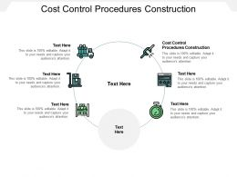 Cost Control Procedures Construction Ppt Powerpoint Presentation Professional Good Cpb