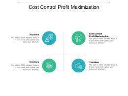 Cost Control Profit Maximization Ppt Powerpoint Presentation Gallery Background Image Cpb
