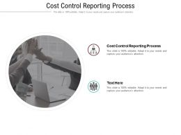 Cost Control Reporting Process Ppt Powerpoint Presentation Pictures Example Introduction Cpb