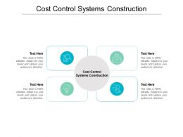 Cost Control Systems Construction Ppt Powerpoint Presentation Ideas Outline Cpb