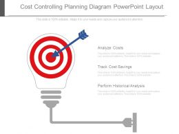 Cost Controlling Planning Diagram Powerpoint Layout