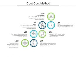 Cost Cost Method Ppt Powerpoint Presentation Outline Layouts Cpb