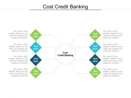Cost Credit Banking Ppt Powerpoint Presentation Visual Aids Ideas Cpb