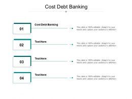 Cost Debt Banking Ppt Powerpoint Presentation Portfolio Infographics Cpb