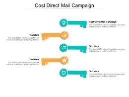 Cost Direct Mail Campaign Ppt Powerpoint Presentation Infographics Display Cpb