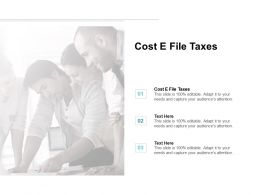 Cost E File Taxes Ppt Powerpoint Presentation File Images Cpb