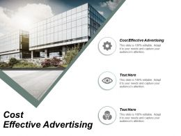 Cost Effective Advertising Ppt Powerpoint Presentation Infographic Template Ideas Cpb