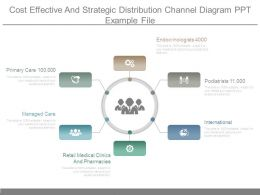 Cost Effective And Strategic Distribution Channel Diagram Ppt Example File