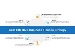 Cost Effective Business Finance Strategy Ppt Powerpoint Presentation Example Cpb
