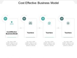 Cost Effective Business Model Ppt Powerpoint Presentation Ideas Guidelines Cpb