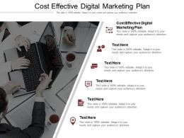 Cost Effective Digital Marketing Plan Ppt Powerpoint Presentation Inspiration Layout Ideas Cpb