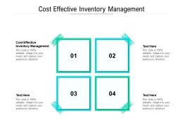 Cost Effective Inventory Management Ppt Powerpoint Presentation Professional Cpb
