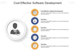 Cost Effective Software Development Ppt Powerpoint Presentation Show Graphics Download Cpb