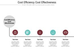 Cost Efficiency Cost Effectiveness Ppt Powerpoint Presentation Show Layout Cpb