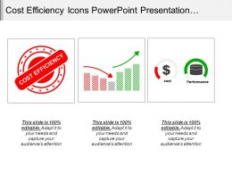 Cost Efficiency Icons Powerpoint Presentation Templates
