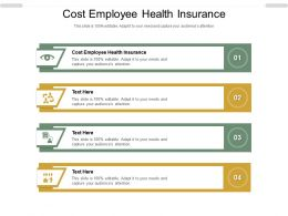 Cost Employee Health Insurance Ppt Powerpoint Presentation Summary Cpb