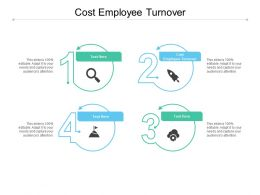 Cost Employee Turnover Ppt Powerpoint Presentation Infographic Template Brochure Cpb