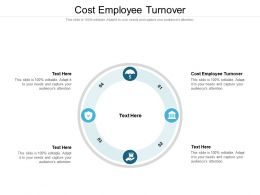 Cost Employee Turnover Ppt Powerpoint Presentation Slides Graphics Download Cpb