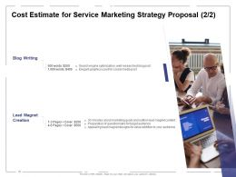 Cost Estimate For Service Marketing Strategy Proposal Ppt Powerpoint Presentation Model Topics