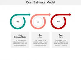 Cost Estimate Model Ppt Powerpoint Presentation Summary Samples Cpb