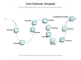 Cost Estimate Template Ppt Powerpoint Presentation Summary Infographics Cpb