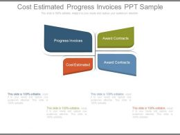 Cost Estimated Progress Invoices Ppt Sample