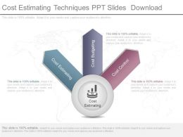 Cost Estimating Techniques Ppt Slides Download