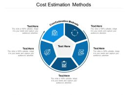 Cost Estimation Methods Ppt Powerpoint Presentation Gallery Images Cpb