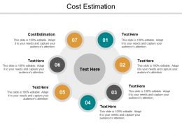 Cost Estimation Ppt Powerpoint Presentation File Graphics Example Cpb