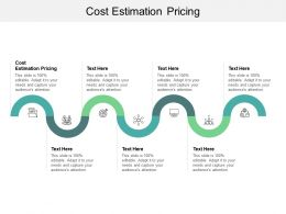Cost Estimation Pricing Ppt Powerpoint Presentation Ideas Graphic Tips Cpb