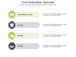 Cost Estimation Services Ppt Powerpoint Presentation Gallery Slides Cpb