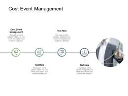 Cost Event Management Ppt Powerpoint Presentation Infographic Template Themes Cpb